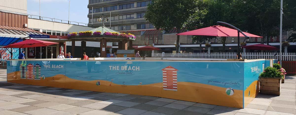 The Beach Outdoor Activation Cwmbran Shopping Centre