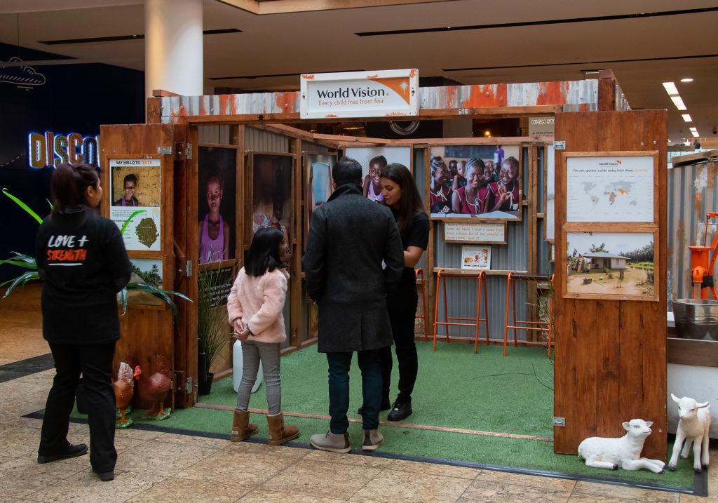 World Vision Experiential Activation in Meadowhall