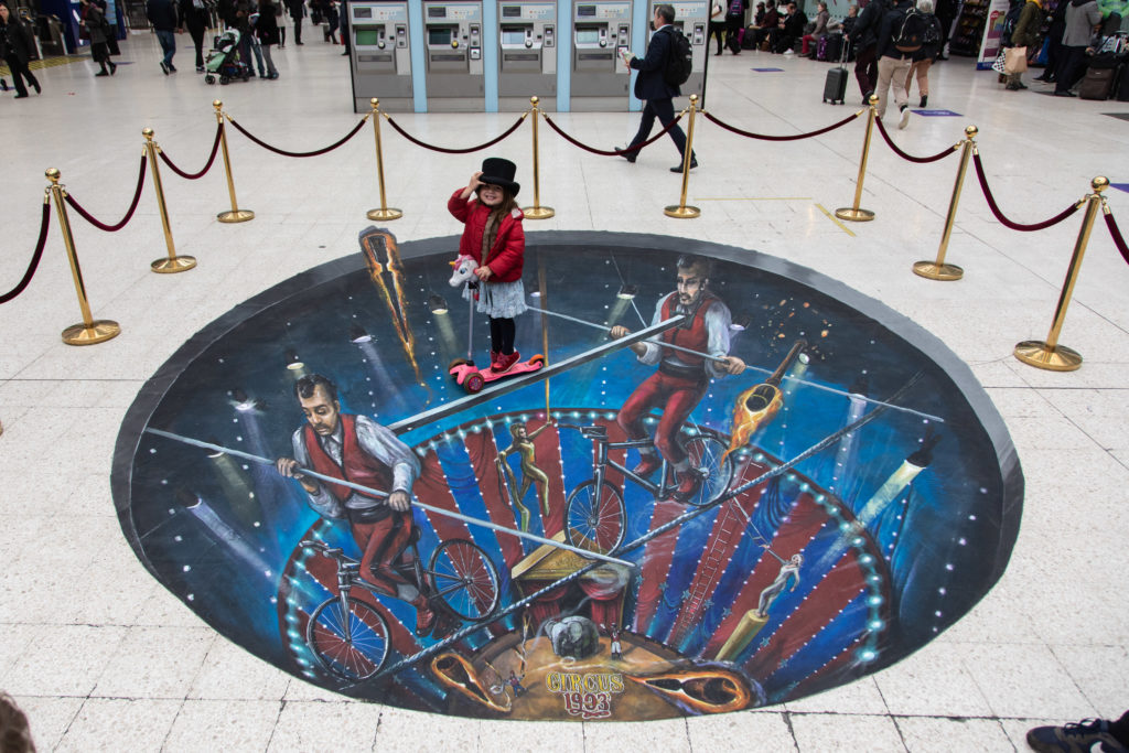 Experiential promotion by AKA at London Waterloo Station for Circus 1903 at Southbank