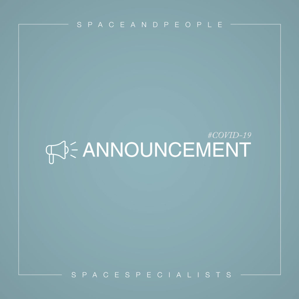 Announcement from SpaceandPeople regarding Coronavirus