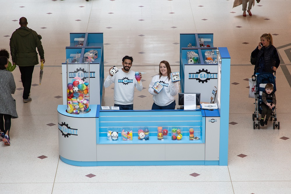 Start-up Raw Gadget, a toy and gadget retailer, trading from a mall kiosk.