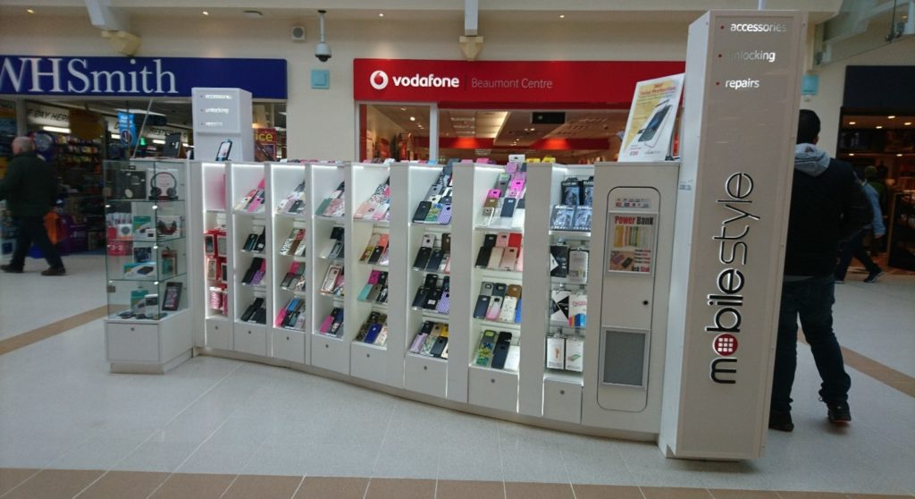 Beaumont Shopping Centre_Mobile Phones Accessories on-mall retail kiosk