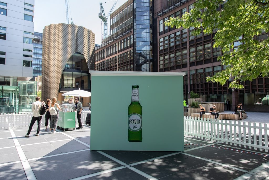 Pravha Beer at Broadgate, June 2019