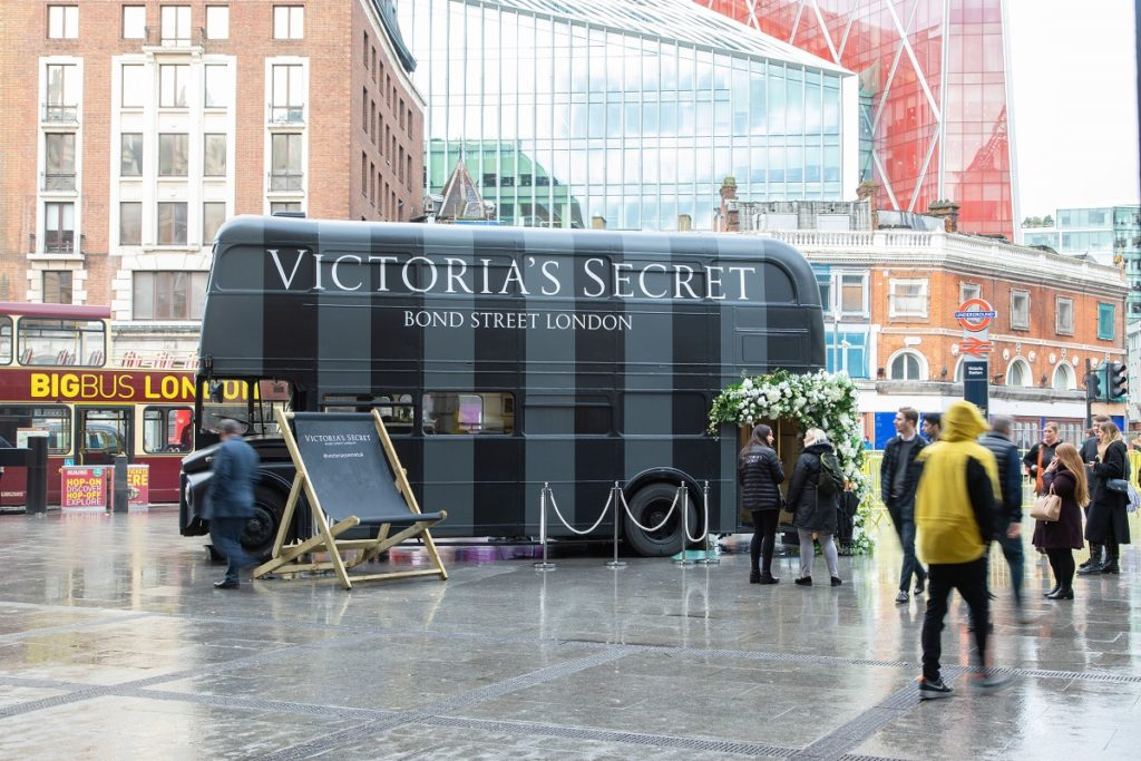 Victoria's Secrets on new external site at London Victoria Station, February 2020