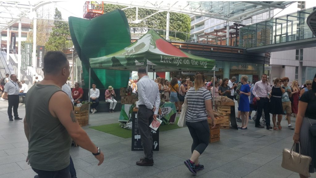 Riverford Organics customer acquisition activity in Cardinal Place