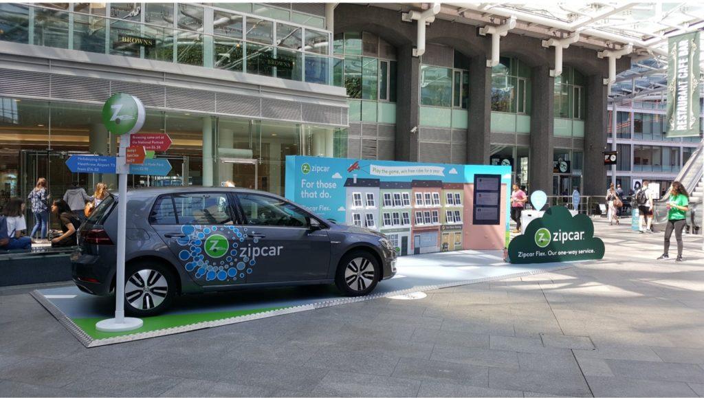 Zipcar brand awareness promotion in Cardinal Place