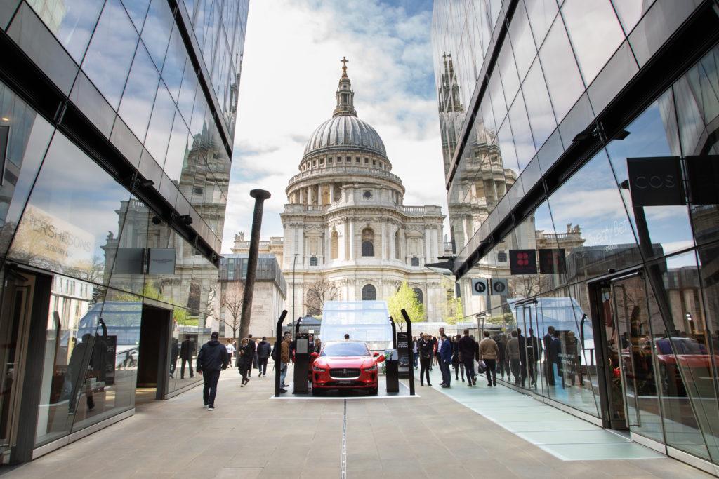 Jaguar car placement promotion at One New Change