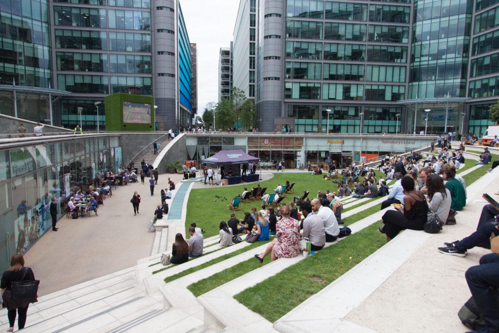 Paddington Central has multiple promotional spaces