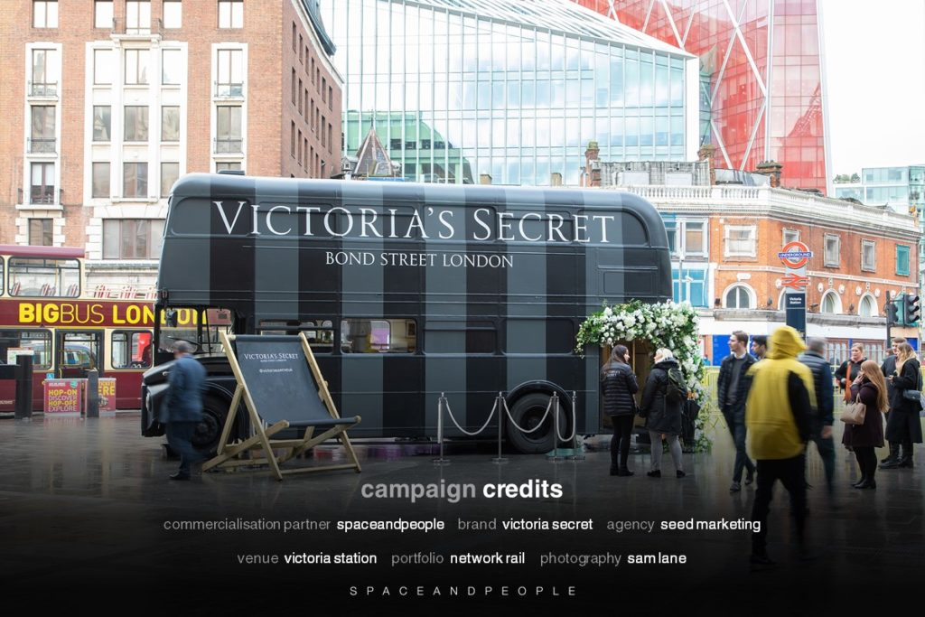 Victoria's Secrets on Victoria Station's new external promotional space