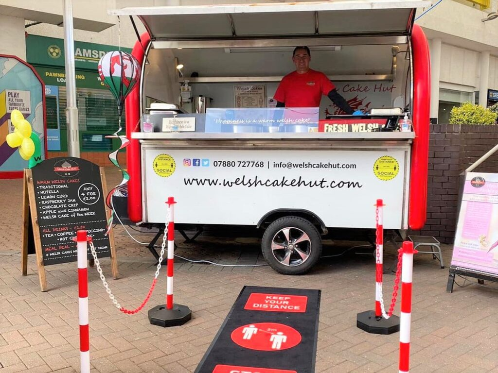 Speciality outdoor food retailer, Welsh Cake Hut at Cwmbran Shopping Centre