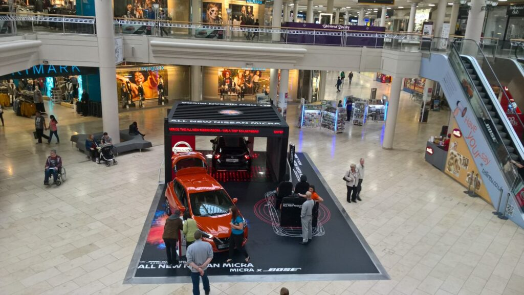 Exhibition Square Metrocentre promotional space is suitable for experiential activities as well as markets and large children's activities