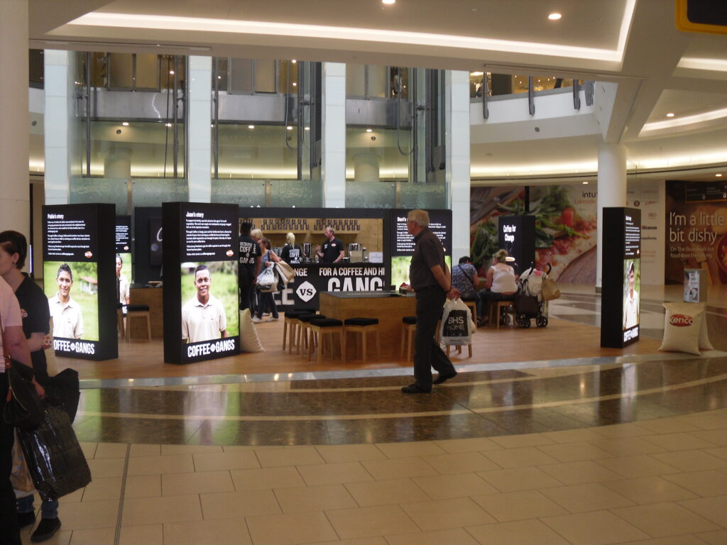 Lakeside promotional space - suitable for brand experiences
