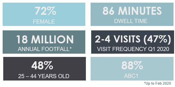 Customer demographic profile at atria Watford shopping centre